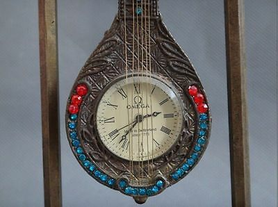 China collected bronze statue carved The pipa mechanical clocks and watches 7