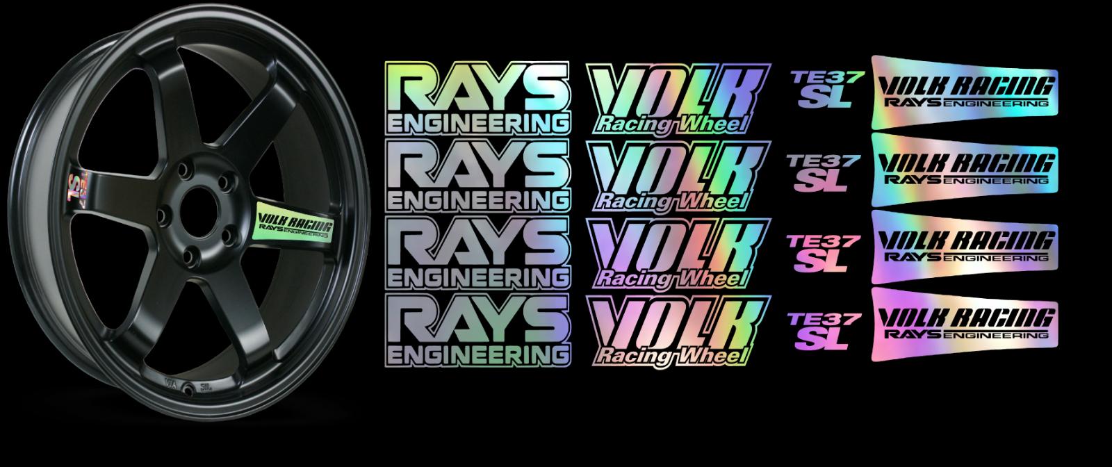 JDM Reflective RAYs VOLK Racing TE37SL Wheel 16 sticker decal Drift 3