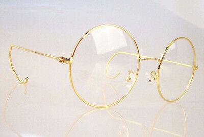 9fc3c3d59a4 ... Agstum Retro Round Optical Rare Wire Rim Mens Eyeglass Frame Large size  49mm 2
