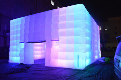 Outdoor Inflatable LED Tent Air Cube with Customized Door and Window for Party 8