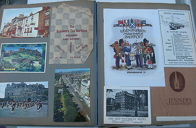 Vintage 1964 Europe Vacation Scrapbook - Brochures, Papers, Pictures, Souvenirs