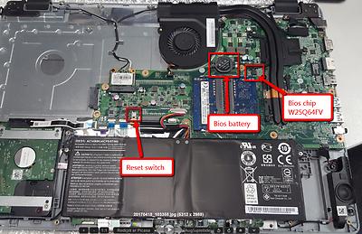 BIOS FOR ACER Aspire E17 E5-731 G, NEW preprogrammed chip, MB: DA0ZYWMB6E0