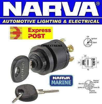Narva 3 Position Ignition Switch + Push For Choke / Glow Marine Mower 12V 64008