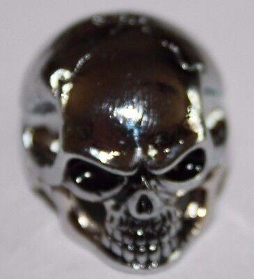Potiknopf Knopf Skull Totenkopf gold Q-parts Metall Hammeroptik  Skull II