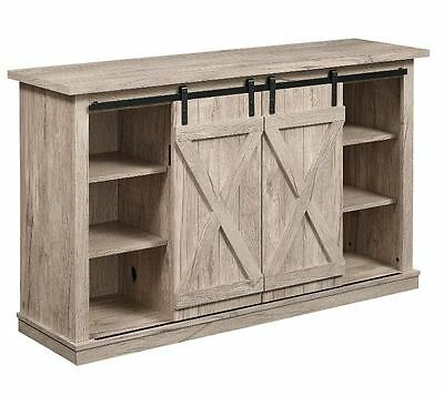 Rustic Tv Stand Console Up To 60 Barn Door Wood Farmhouse