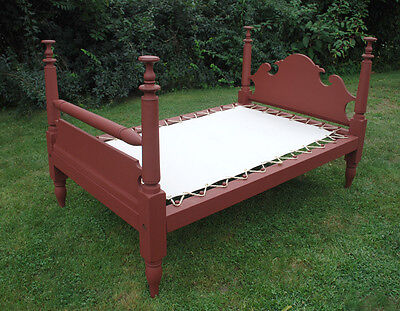 Custom Made Canvas Sacking Bottom for Rope or Peg Bed - Rope Bed Restoration 3