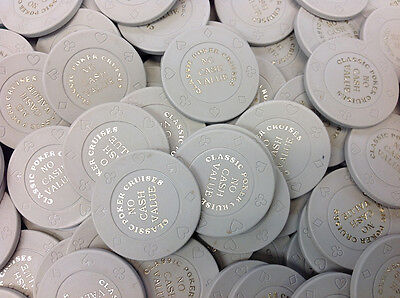 100 8-Suit Gray Ncv Classic Poker Cruises Casino Quality Chips - Free Shipping 5