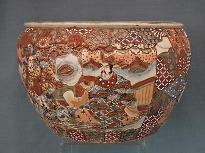 Authentic Antique 19th century Meiji Japanese Large Satsuma Planter 5