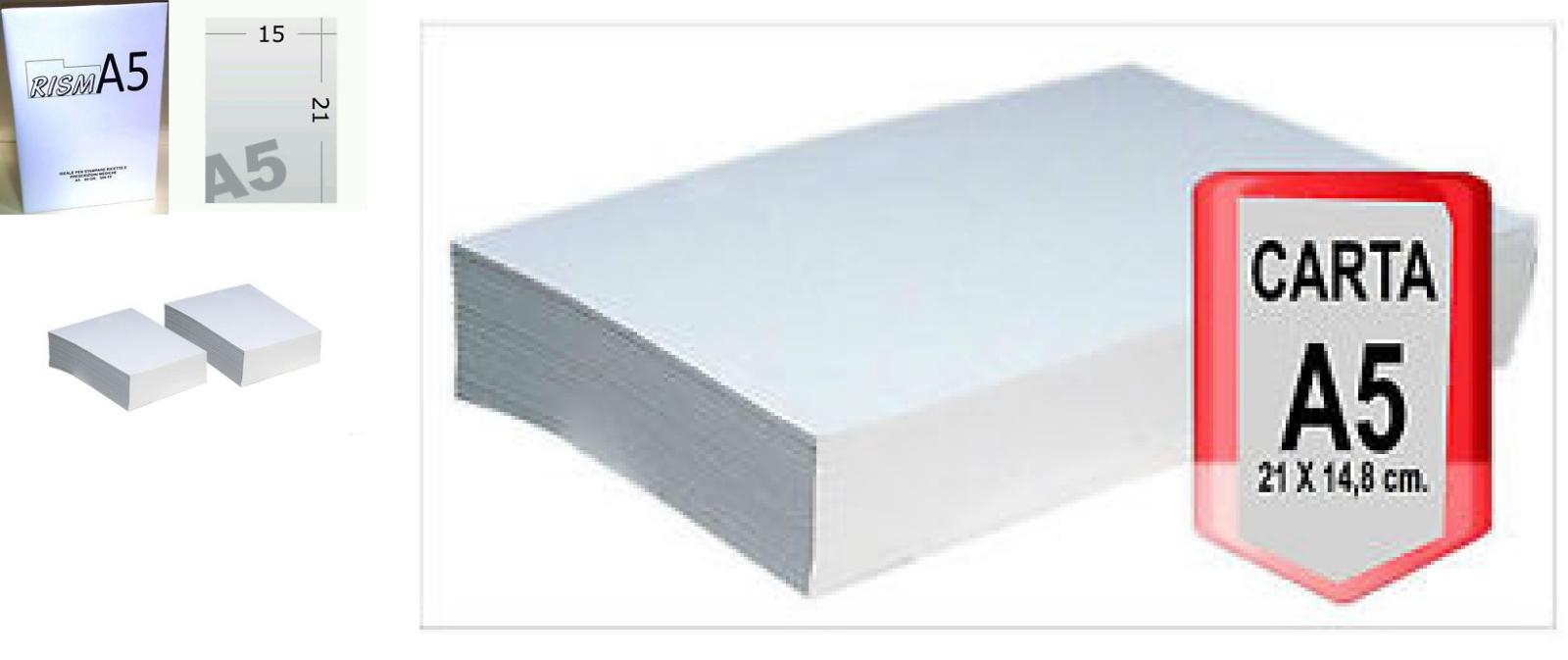 FAVINI confezione da 12 pezzi carta copy a5 148x210mm 80gr 500fg bianca favini