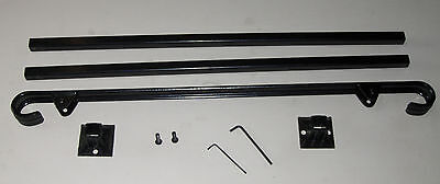 """38""""  A-Justa-Rail with mounting shoe Wrought Iron stair Railing step grab Steel 2"""