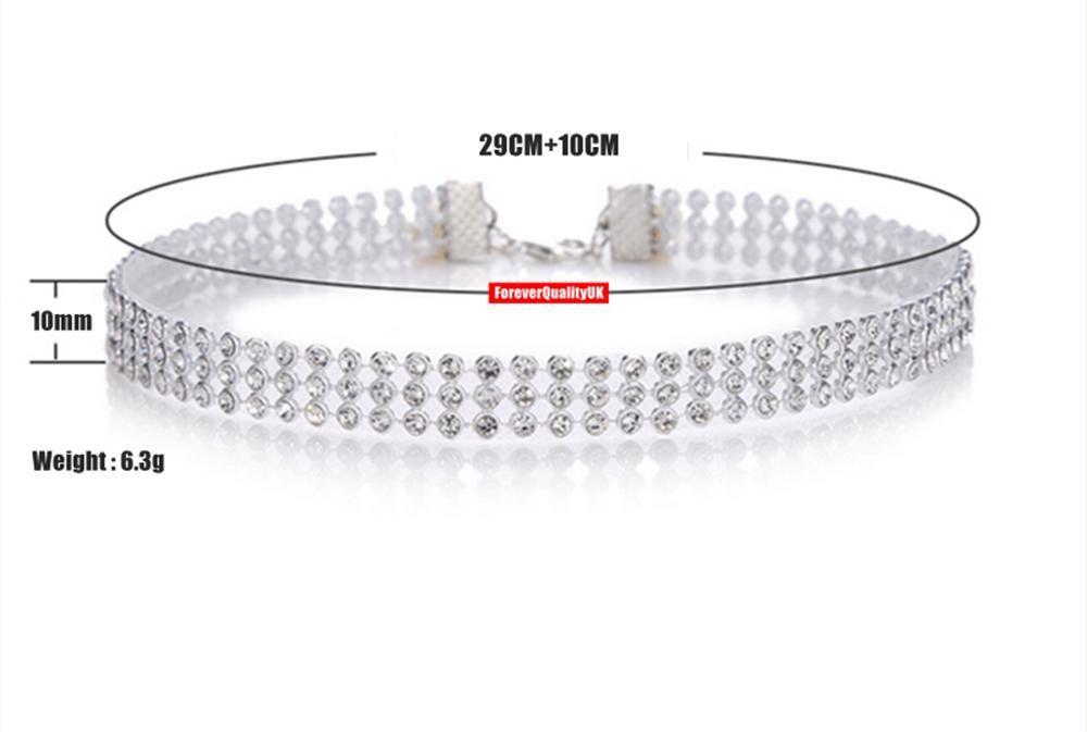 Fashion Women Full Diamond Crystal Rhinestone Choker Necklace Wedding Jewellery 2