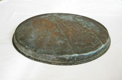 Antique big copper baking dish tray Ottoman Turkish hand hammered solid copper 4
