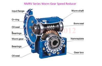 Gearbox NMRV30 Turbo-Worm Gear Reducer Ratio 1:5 Square Flange for NEMA23 7