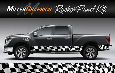 2 Sizes 5 Colors Truck Graphic #105 Rocker Panel Decal Wrap Kit Truck SUV