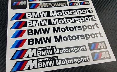 Mpower decal set 53 stickers wheel rim bmw performance Motorsport 3 5 7 series 6