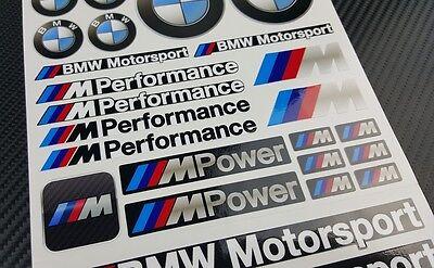 Mpower decal set 53 stickers wheel rim bmw performance Motorsport 3 5 7 series 7