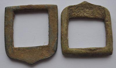 19th Century Russia Antique Relic Bronze Small Shoe Buckles 2