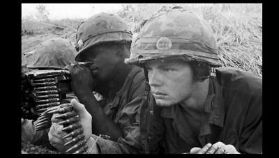 VIETNAM WAR MACHINE Gun Crew PHOTO 173rd Airborne Infantry Brig 2/503rd US  Army