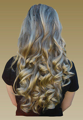 """19"""" Curly Long Clip-In Half Extension Piece *2-3 Tone* ~Feels like Human Hair~ 3"""