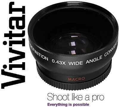 HD4 Optics Vivitar Wide Angle Lens With Macro For Sony SLT-A55V SLT-A55 A55 5