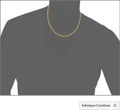 Gold Plated Stainless Steel Rope Chain Necklace Bracelet Men Women 2mm-8mm 5