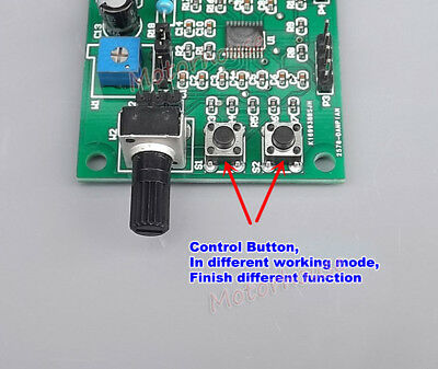 DC 5V-12V 2-phase 4-wire Micro MINI Stepper Motor Driver Speed Controller Module 6