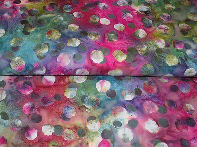Hoffman Batik Bali Chop Scalloped Floral M2710-55 Charcoal Cotton Batik BTY