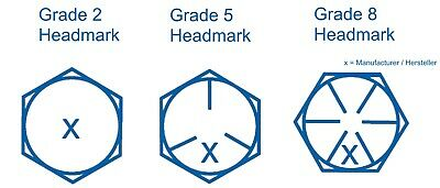 Hex Head Tab Bolt Sechskantschraube 1//2-20 UNF x 1 3//4 Grd.8 gelb verzinkt