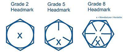 Sechskantschraube 5//8-11 UNC x 1 1//4 Grd.8 gelb verzinkt Hex Head Tab Bolt