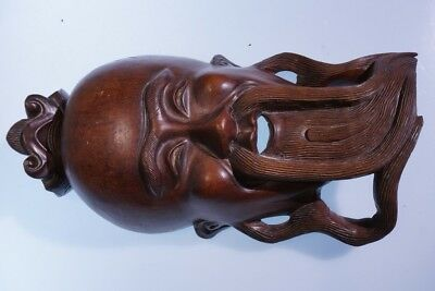 Chinese Woodcarved Mask Wall Hanging #2 5