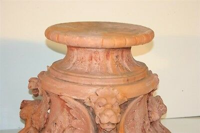 Vintage Pair Figural Griffin Fiberglass Garden Pedestals Architectural Stands 9