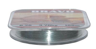 100m Lazer Bravo Mono Fishing Line 3lb 4lb 5lb 6lb 8lb 9lb 12lb 17lb 22lb 28lb