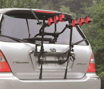 3 Bicycle Bike Car Cycle Carrier Rack Universal Fitting Saloon Hatchback Estate 2