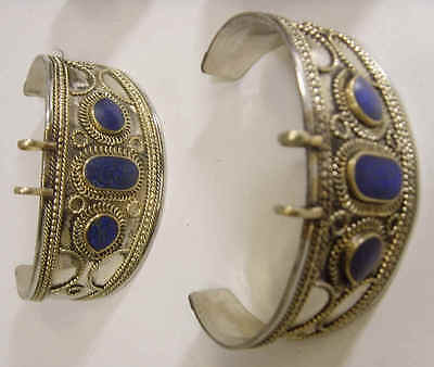 6 OLD LAPIS LAZULI TURKMAN TRIBAL BRACELETS LOT BELLYDANCE close out sale FV083 3