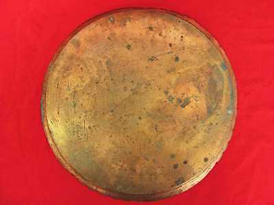 Antique Muslim Islamic Style Copper Serving Tray Marked 3