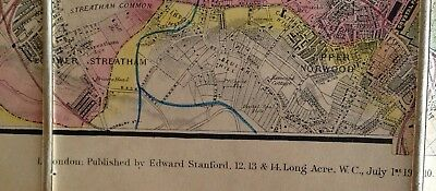 Davies's Map of London and its Environs, 1910, boxed 10
