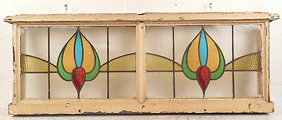 Vintage Stained Glass Window Panel (2785)NJ 3