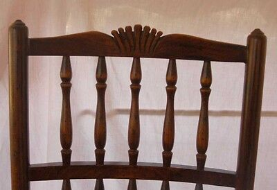 Set 8 French Rustic Spindleback Chairs in Oak Kitchen Dining Chair