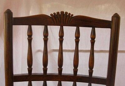 set 8 French Rustic Spindleback Chairs in Oak 4