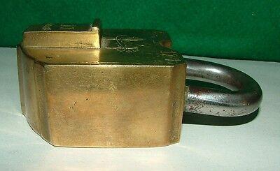 Eder & Co 10 Lever Brass Padlock, No Key 2