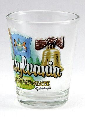 Pennsylvania Keystone State Elements Shot Glass Shotglass 3