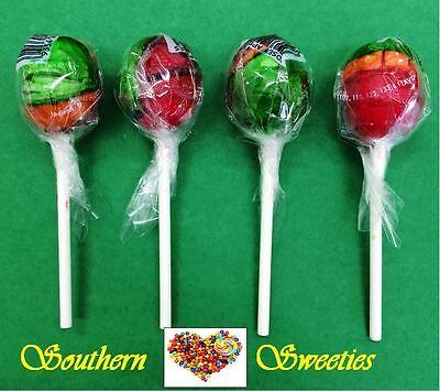 50  Rosey Apple Lollipops Johnsons Red Green Orange Lollies Rosy Lollypops Xmas
