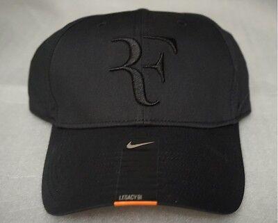 b1c1b3fbc10 ... New Nike RF Roger Federer Hat Cap Black Tennis Dri Fit 371202-011 2