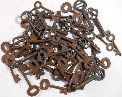 Rusty ornate Skeleton 1800's keys 100 pc lot steampunk #2207 4