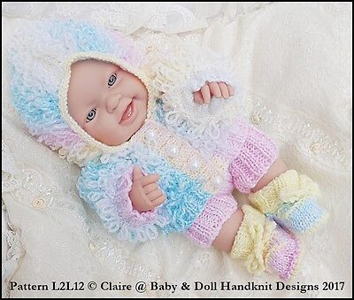 f53c9b53a BABYDOLL HANDKNIT DESIGNS Knitting Pattern L2L12 14