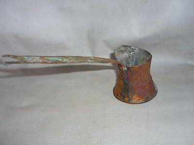 Antique Ottoman Handforged Copper Coffee Pot 18 Century