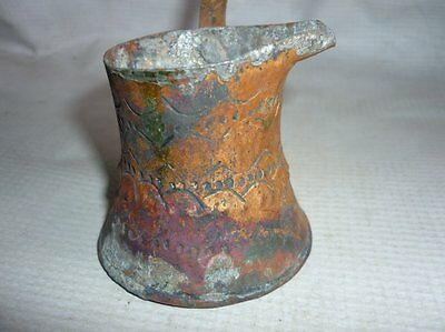 Antique Ottoman Handforged Copper Coffee Pot 18 Century 6