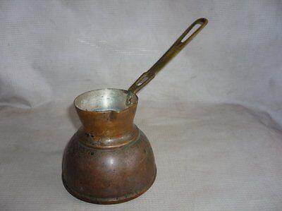 Antique Ottoman Empire Copper Coffee Pot 19 Century 3
