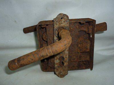 Antique Ottoman Handforged Iron Door Lock 19 Century Must See!!! 2