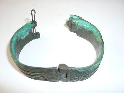 Antique Ottoman Empire Brass Bracelet 18 Century 9